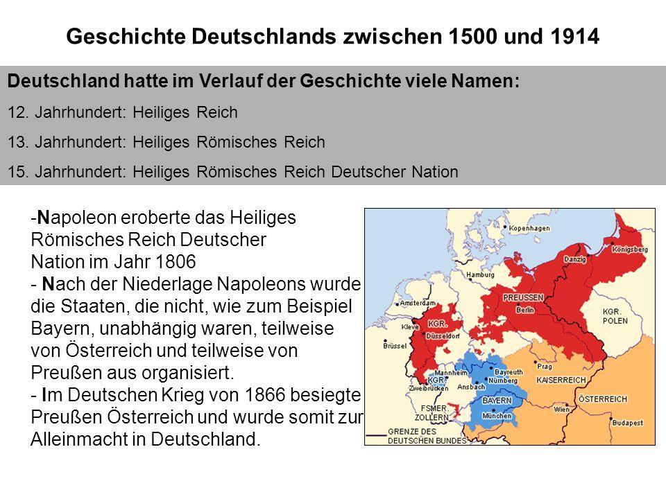 Geschichte II Geschichte Deutschlands zwischen 1500 und 1914