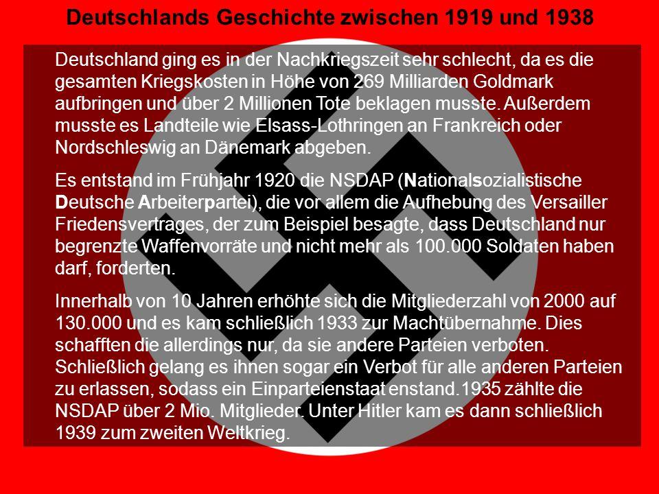 Deutschlands Geschichte zwischen 1919 und 1938