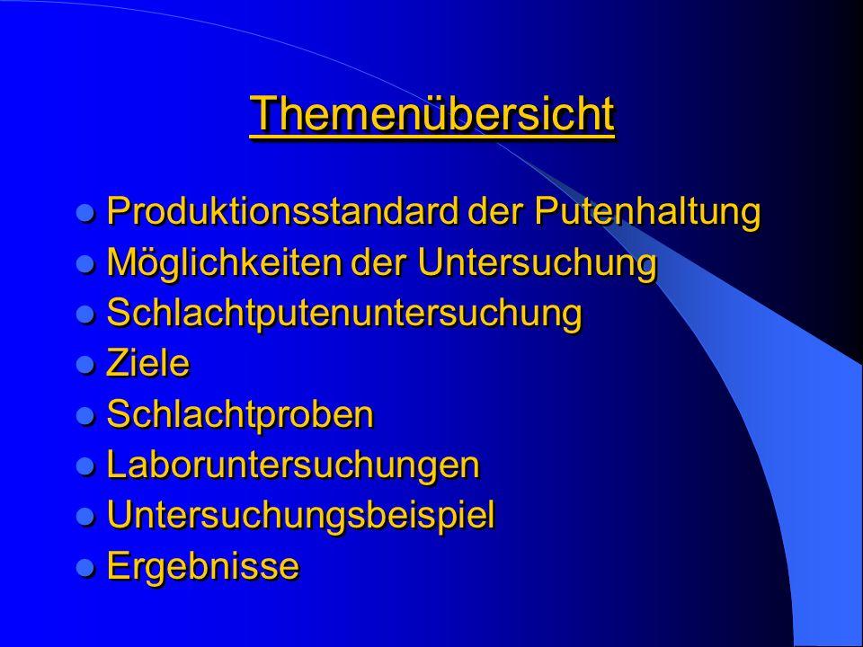 Themenübersicht Produktionsstandard der Putenhaltung