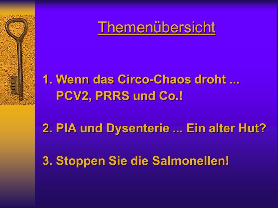 Themenübersicht 1. Wenn das Circo-Chaos droht ... PCV2, PRRS und Co.!