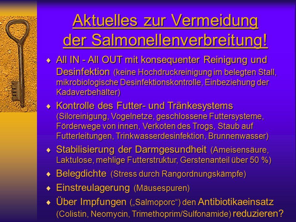 Aktuelles zur Vermeidung der Salmonellenverbreitung!