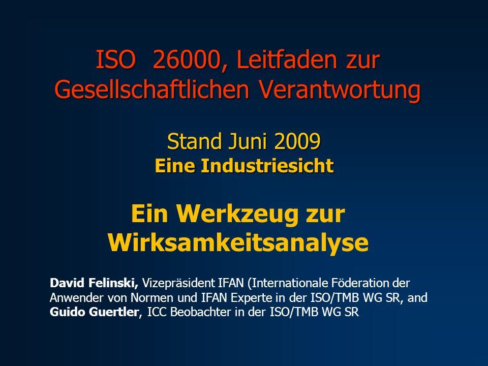 ISO 26000, Leitfaden zur Gesellschaftlichen Verantwortung