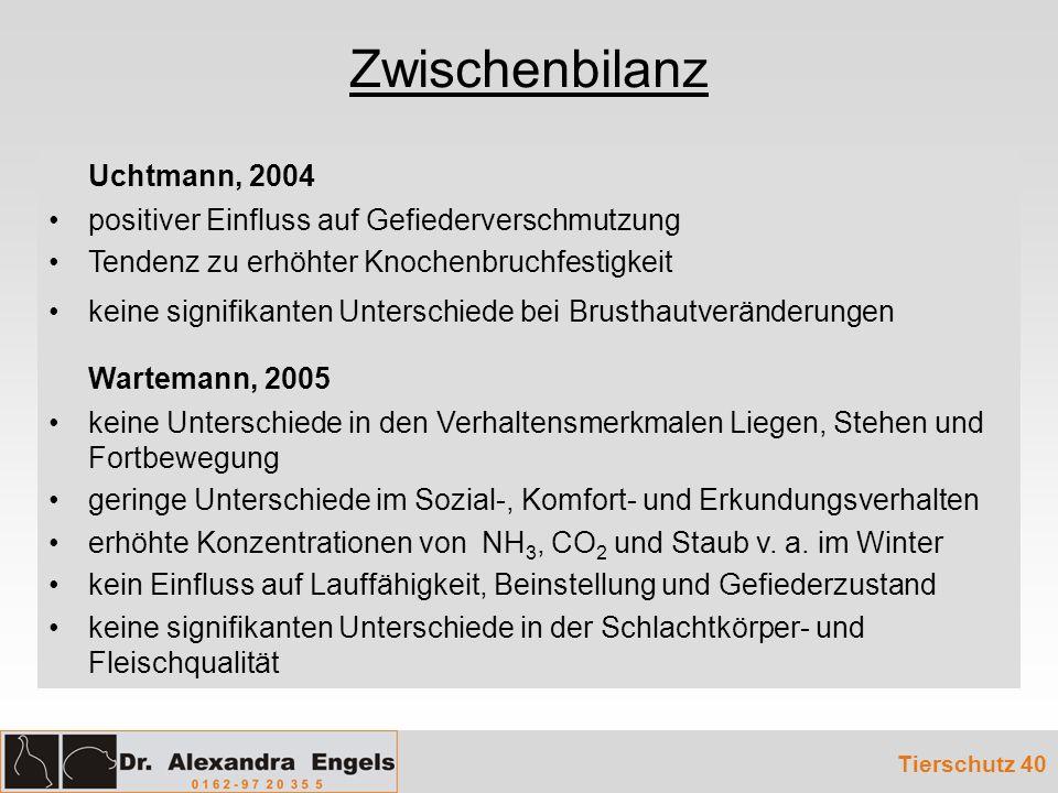 Zwischenbilanz Uchtmann, 2004 Wartemann, 2005