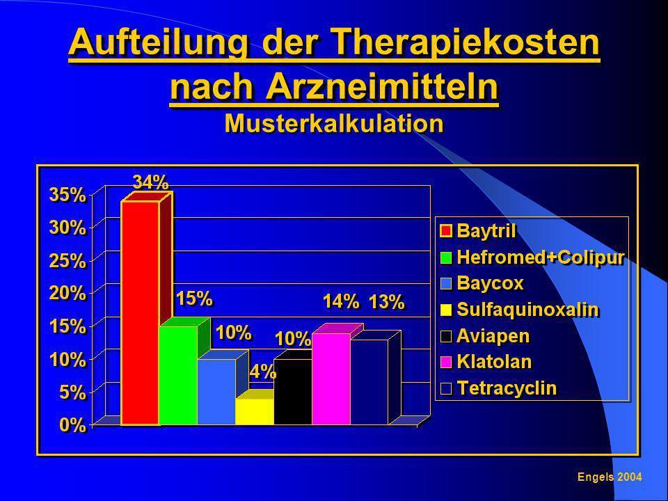 Aufteilung der Therapiekosten nach Arzneimitteln Musterkalkulation