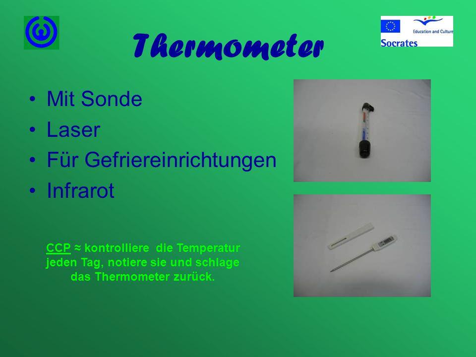 Thermometer Mit Sonde Laser Für Gefriereinrichtungen Infrarot
