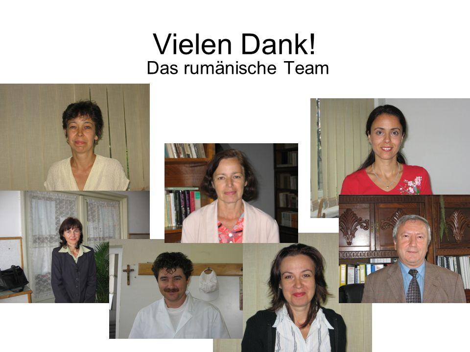 Vielen Dank! Das rumänische Team