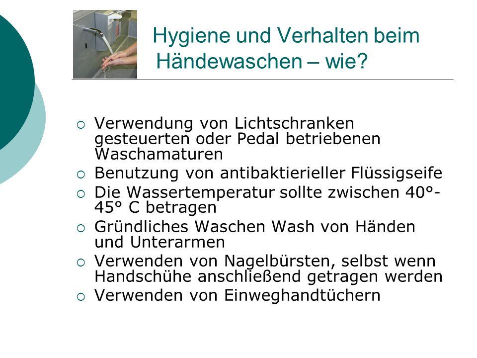 Hygiene und Verhalten beim Händewaschen – wie