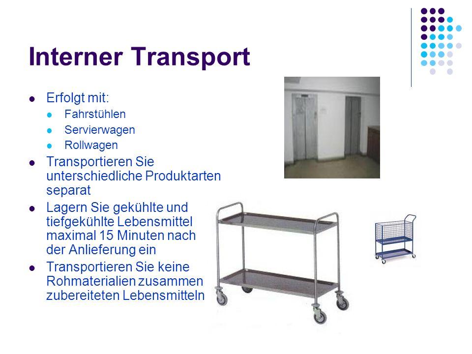 Interner Transport Erfolgt mit: