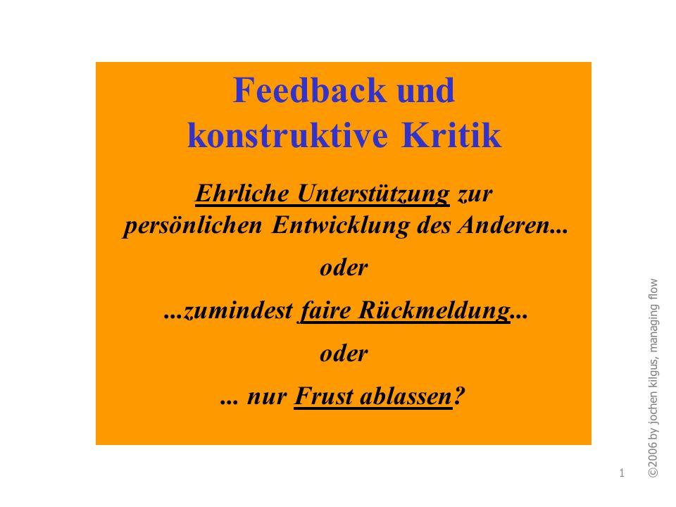 Feedback und konstruktive Kritik