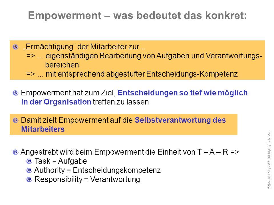 Empowerment – was bedeutet das konkret: