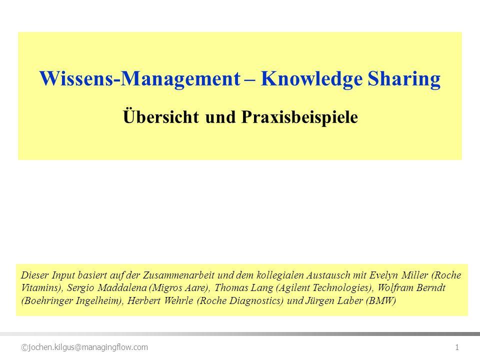 Wissens-Management – Knowledge Sharing Übersicht und Praxisbeispiele