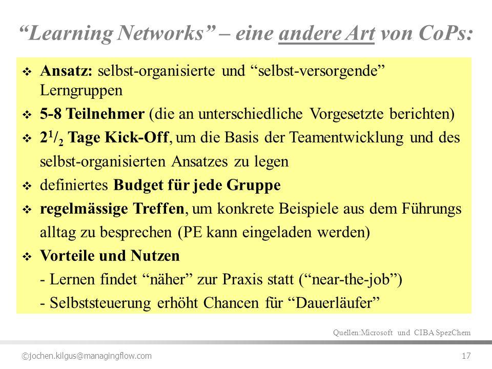 Learning Networks – eine andere Art von CoPs: