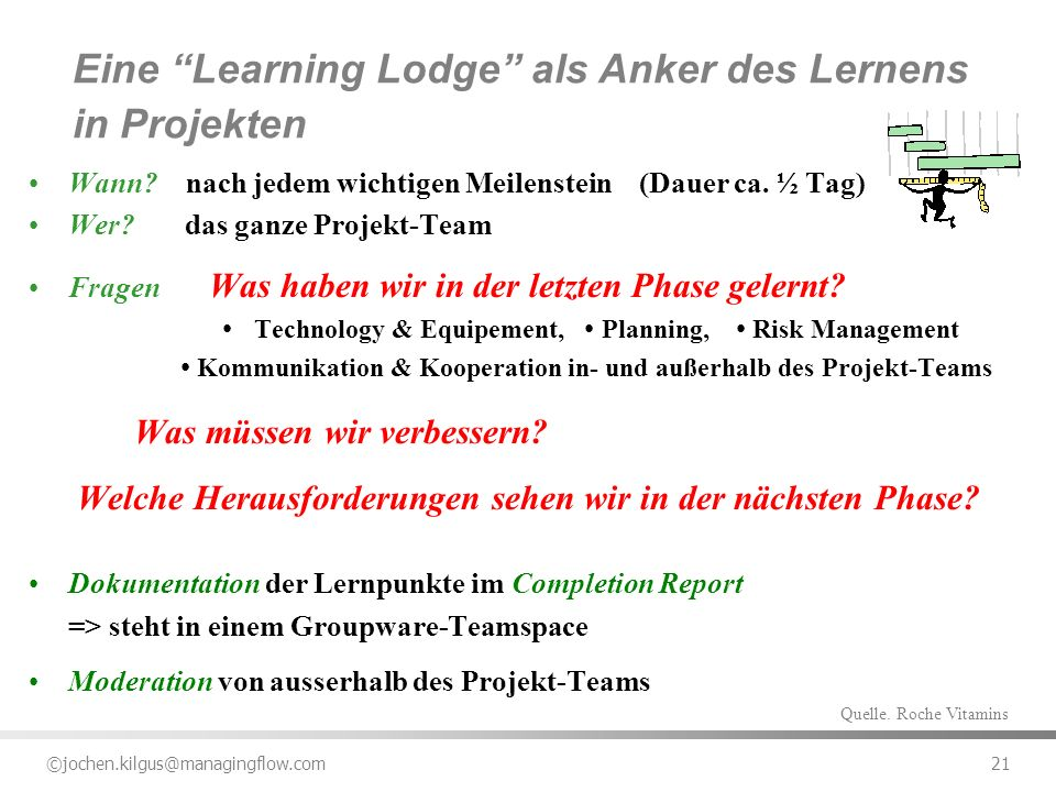 Eine Learning Lodge als Anker des Lernens in Projekten