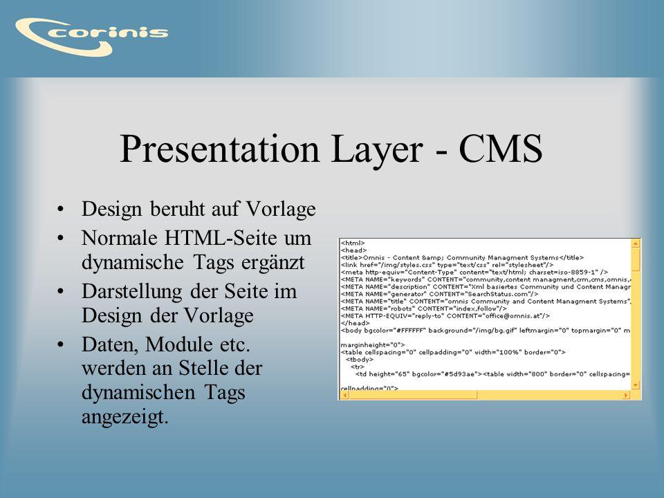 Presentation Layer - CMS