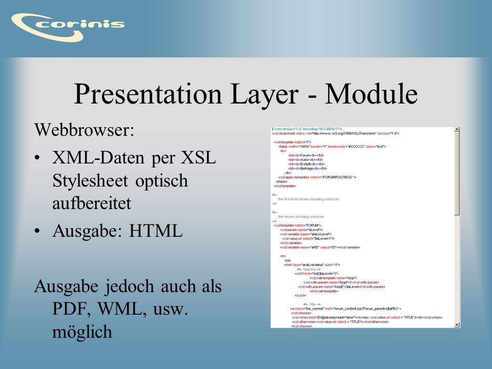 Presentation Layer - Module