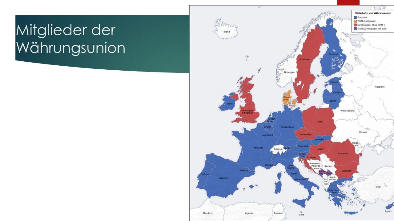 Mitglieder der Währungsunion