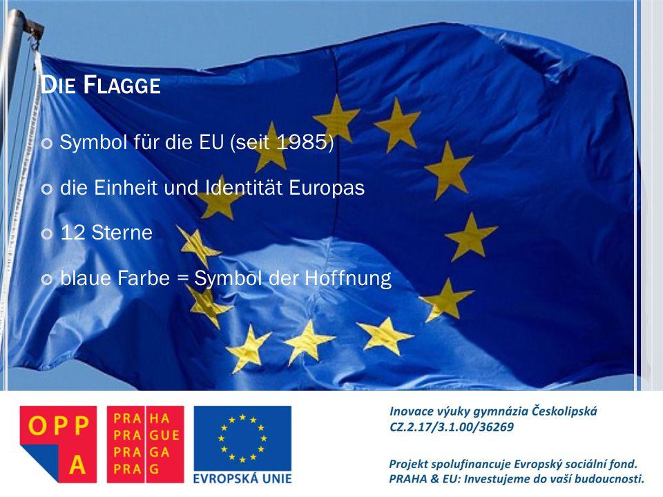 Die Flagge Symbol für die EU (seit 1985)