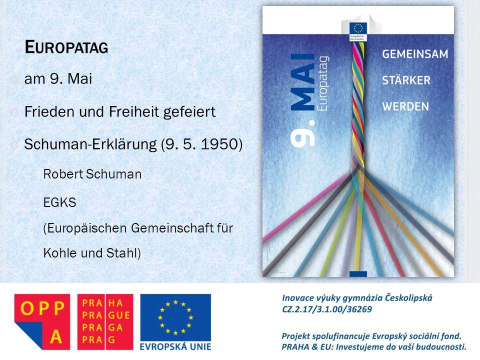 Europatag am 9. Mai Frieden und Freiheit gefeiert