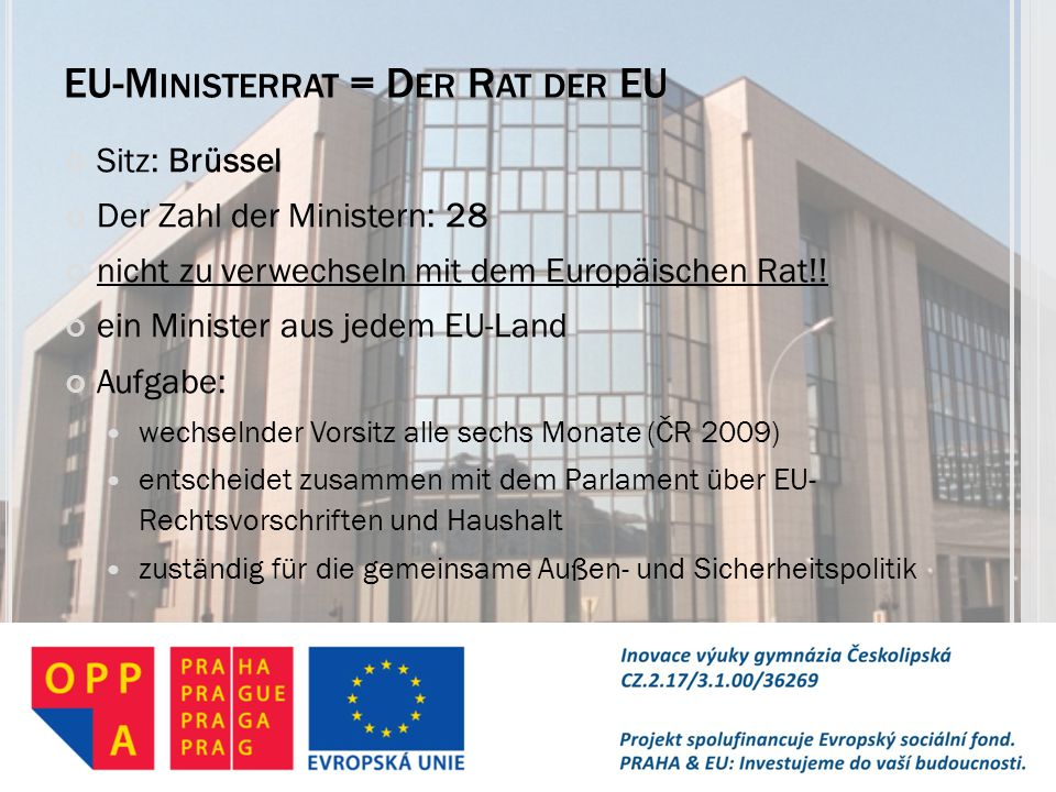 EU-Ministerrat = Der Rat der EU