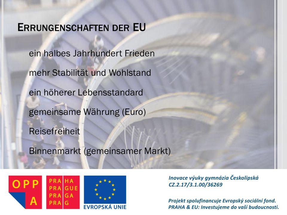 Errungenschaften der EU