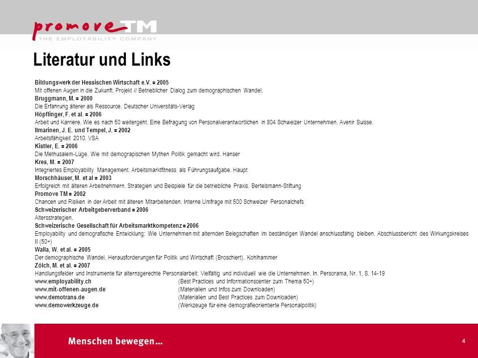 Literatur und Links Bildungswerk der Hessischen Wirtschaft e.V. = 2005