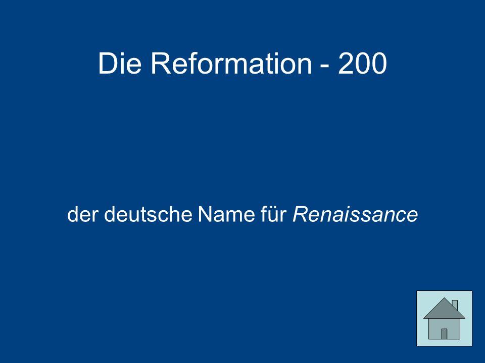 der deutsche Name für Renaissance