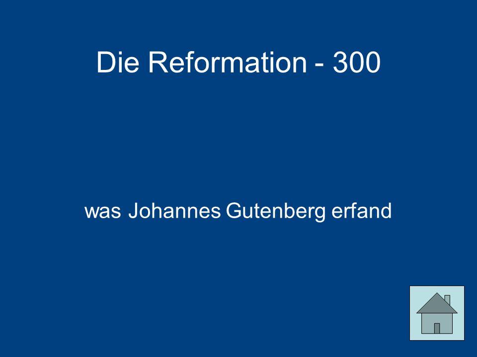 was Johannes Gutenberg erfand