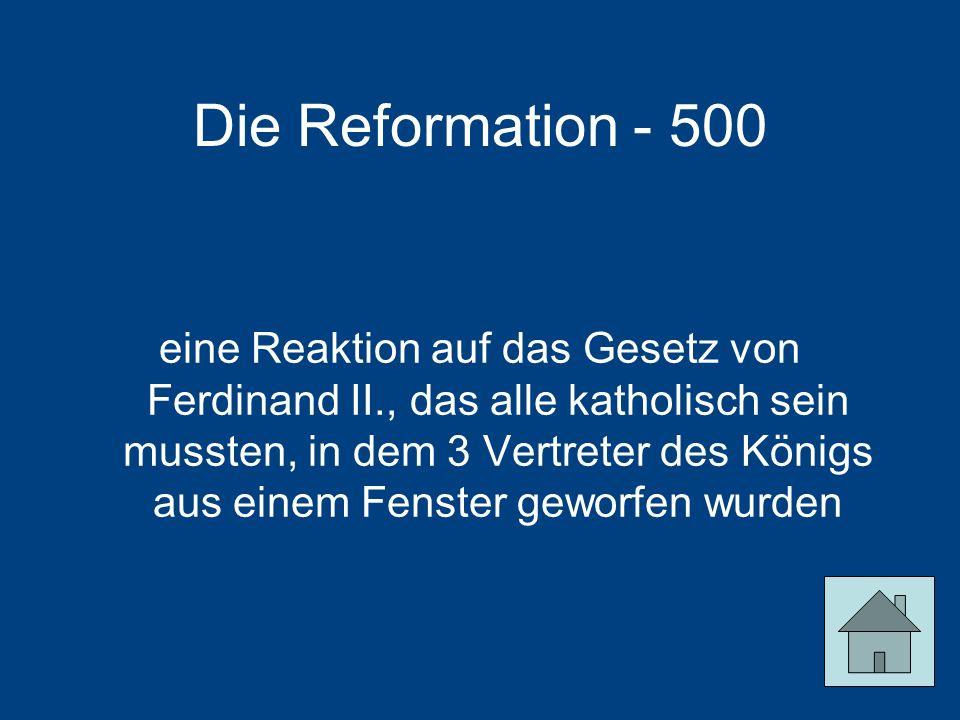Die Reformation - 500