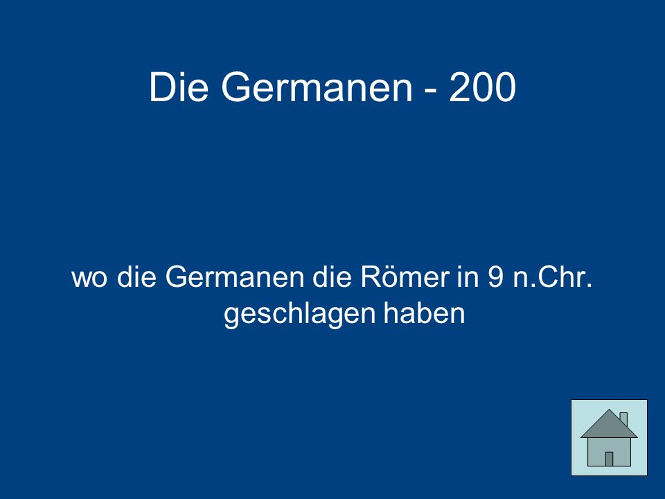wo die Germanen die Römer in 9 n.Chr. geschlagen haben