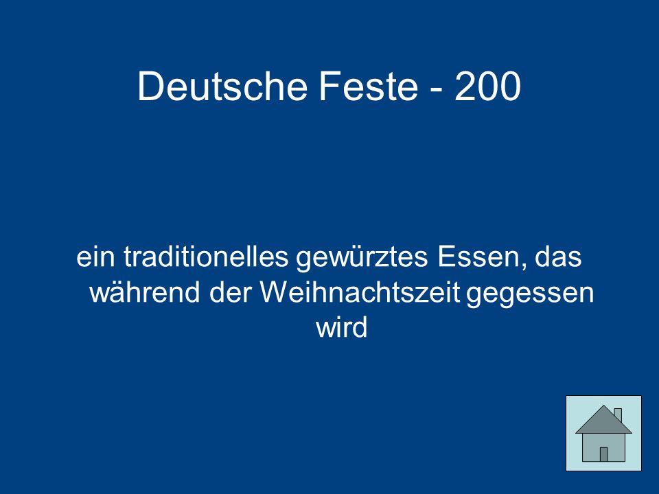 Deutsche Feste - 200 ein traditionelles gewürztes Essen, das während der Weihnachtszeit gegessen wird.