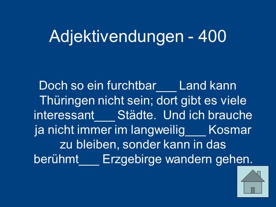 Adjektivendungen - 400