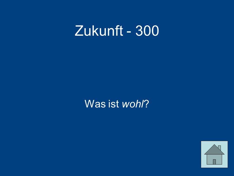 Zukunft - 300 Was ist wohl