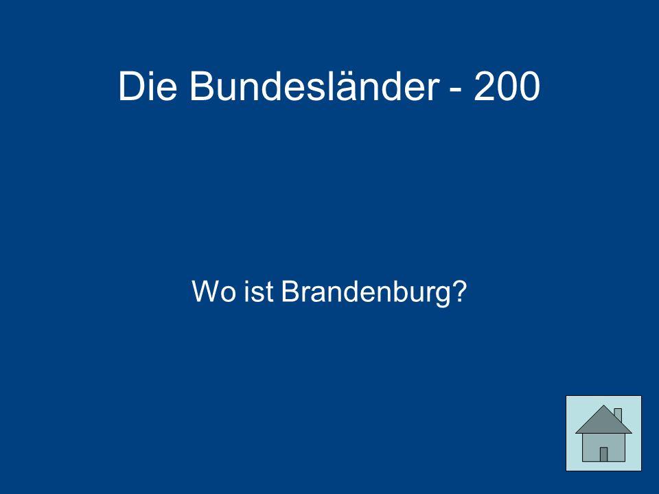 Die Bundesländer - 200 Wo ist Brandenburg