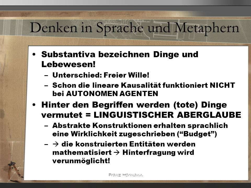 Denken in Sprache und Metaphern