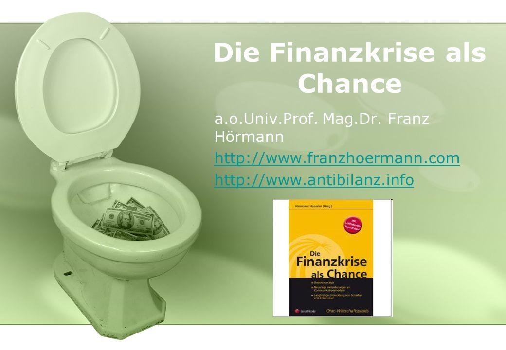 Die Finanzkrise als Chance