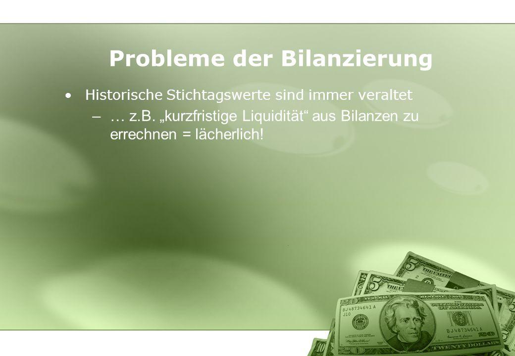 Probleme der Bilanzierung
