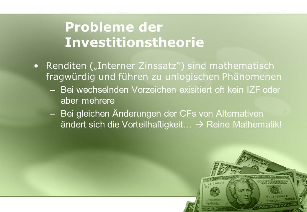 Probleme der Investitionstheorie