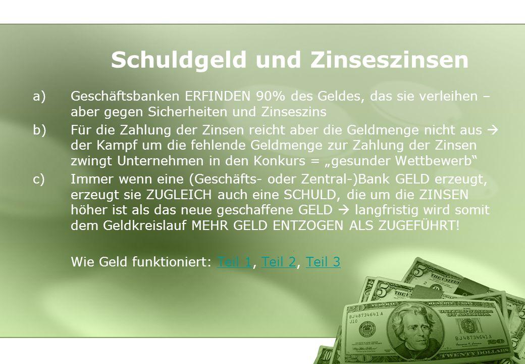 Schuldgeld und Zinseszinsen