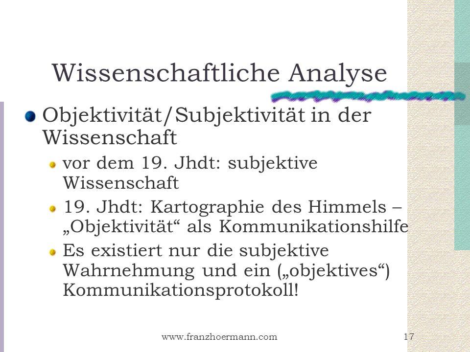 Wissenschaftliche Analyse