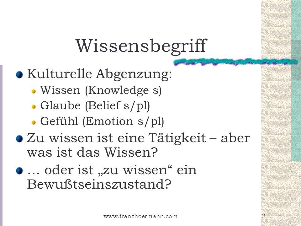 Wissensbegriff Kulturelle Abgenzung: