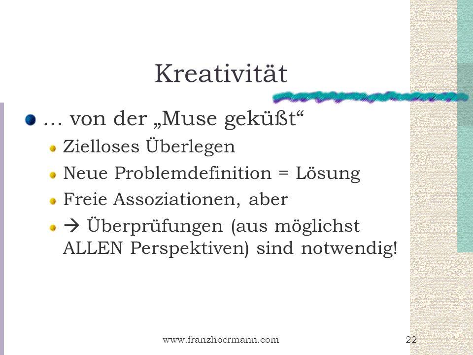 """Kreativität … von der """"Muse geküßt Zielloses Überlegen"""