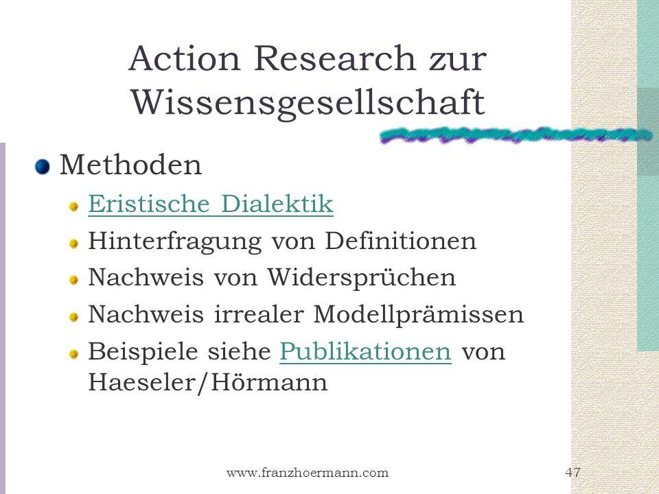 Action Research zur Wissensgesellschaft