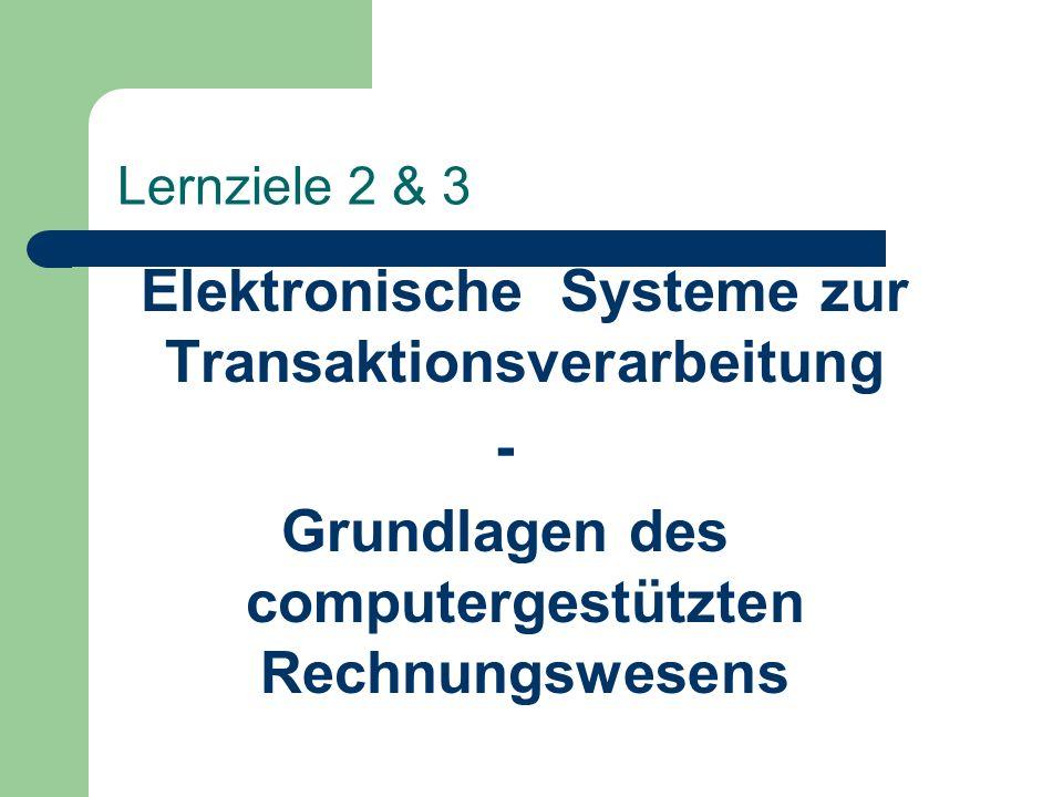 Elektronische Systeme zur Transaktionsverarbeitung -