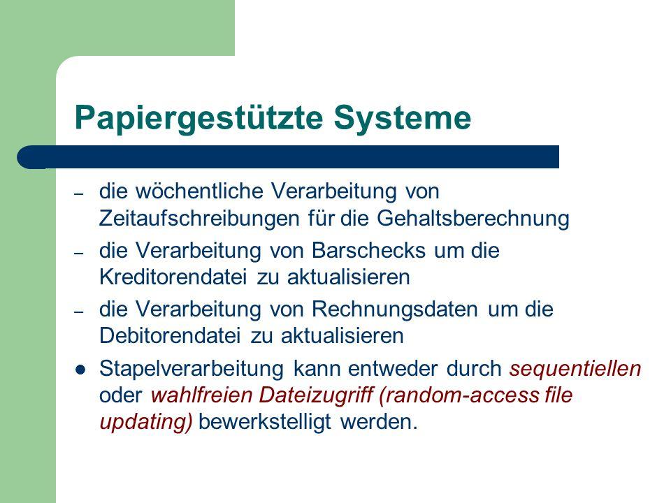 Papiergestützte Systeme