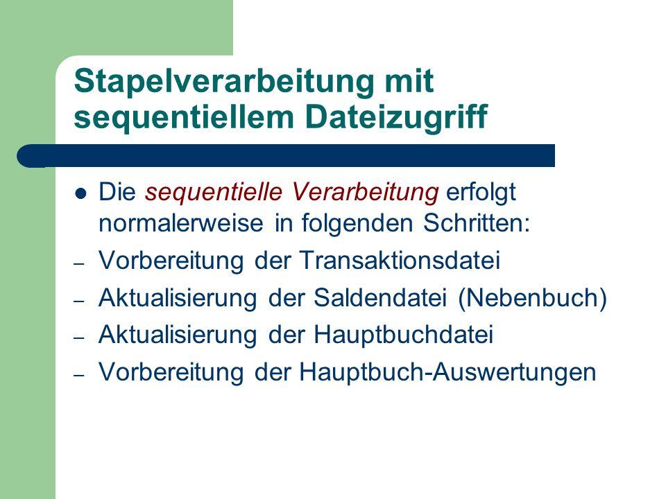 Stapelverarbeitung mit sequentiellem Dateizugriff