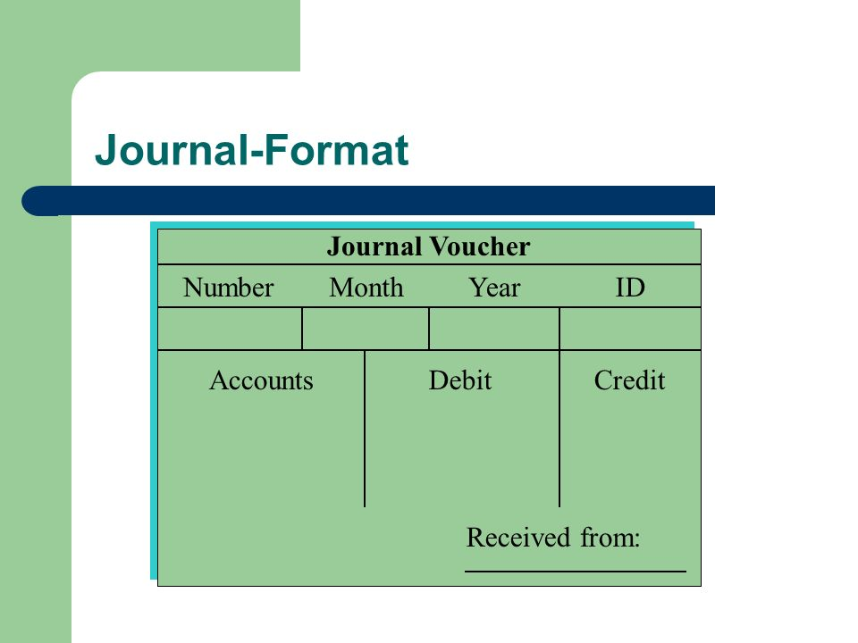 Journal-Format Journal Voucher Number Month Year ID Accounts Debit