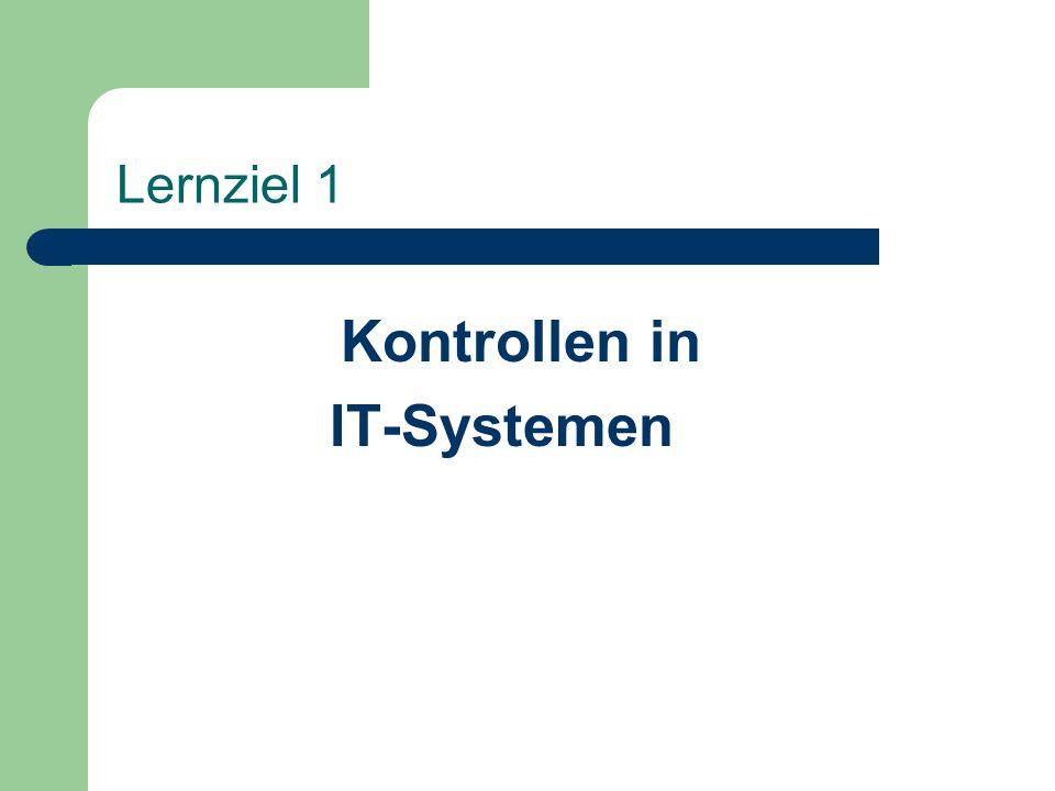 Kontrollen in IT-Systemen