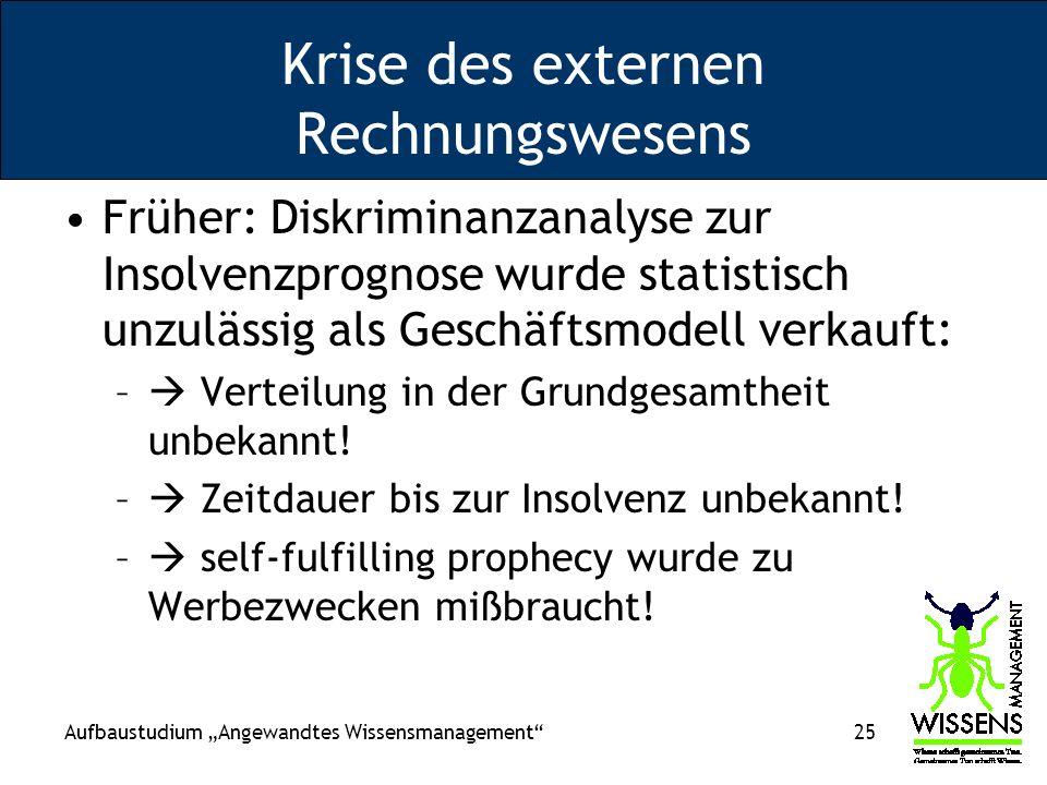 Krise des externen Rechnungswesens