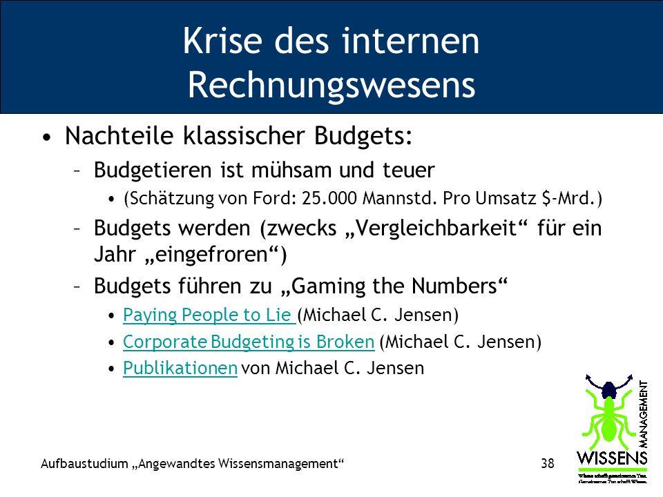 Krise des internen Rechnungswesens