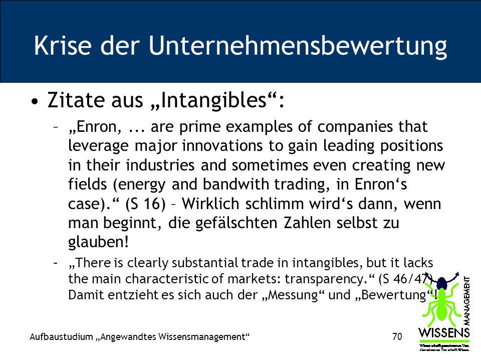 Krise der Unternehmensbewertung